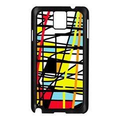 Casual Abstraction Samsung Galaxy Note 3 N9005 Case (black) by Valentinaart