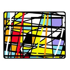 Casual Abstraction Double Sided Fleece Blanket (small)  by Valentinaart