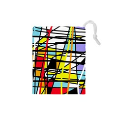 Casual Abstraction Drawstring Pouches (small)