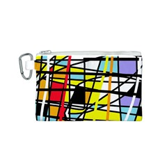 Casual Abstraction Canvas Cosmetic Bag (s) by Valentinaart