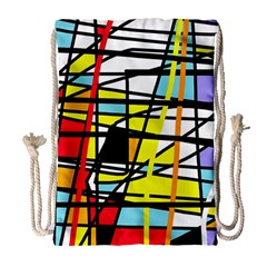 Casual Abstraction Drawstring Bag (large) by Valentinaart