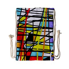 Casual Abstraction Drawstring Bag (small) by Valentinaart