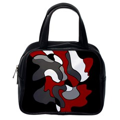 Creative Spot   Red Classic Handbags (one Side) by Valentinaart