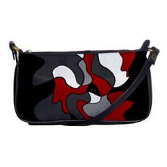 Creative Spot   Red Shoulder Clutch Bags by Valentinaart