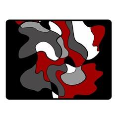 Creative Spot   Red Fleece Blanket (small) by Valentinaart