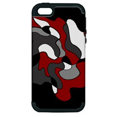 Creative Spot   Red Apple Iphone 5 Hardshell Case (pc+silicone) by Valentinaart