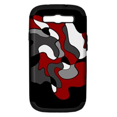 Creative Spot   Red Samsung Galaxy S Iii Hardshell Case (pc+silicone)
