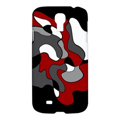 Creative Spot   Red Samsung Galaxy S4 I9500/i9505 Hardshell Case by Valentinaart
