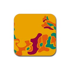 Colorful Creativity Rubber Square Coaster (4 Pack)  by Valentinaart