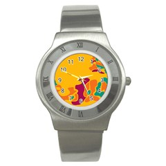Colorful Creativity Stainless Steel Watch by Valentinaart