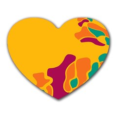 Colorful Creativity Heart Mousepads by Valentinaart