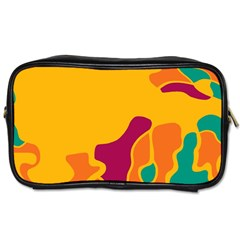 Colorful Creativity Toiletries Bags 2 Side by Valentinaart
