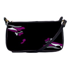 Magenta Creativity  Shoulder Clutch Bags by Valentinaart