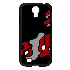 Red Creativity 2 Samsung Galaxy S4 I9500/ I9505 Case (black) by Valentinaart