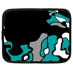 Cyan Creativity 2 Netbook Case (large) by Valentinaart