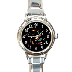 Colorful Twist Round Italian Charm Watch by Valentinaart