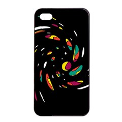 Colorful Twist Apple Iphone 4/4s Seamless Case (black) by Valentinaart