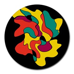 Colorful Spot Round Mousepads by Valentinaart