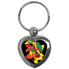 Colorful Spot Key Chains (heart)  by Valentinaart