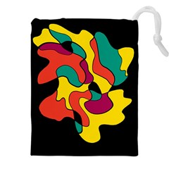 Colorful Spot Drawstring Pouches (xxl) by Valentinaart