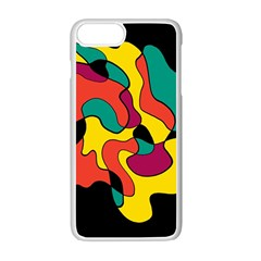 Colorful spot Apple iPhone 7 Plus White Seamless Case by Valentinaart
