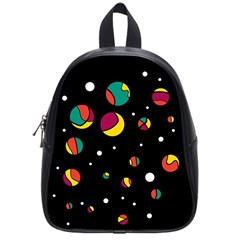 Colorful Dots School Bags (small)  by Valentinaart