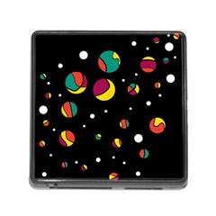 Colorful dots Memory Card Reader (Square)