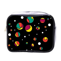 Colorful Dots Mini Toiletries Bags by Valentinaart