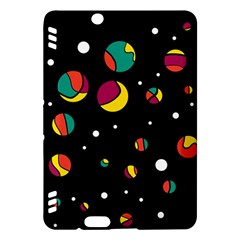 Colorful Dots Kindle Fire Hdx Hardshell Case by Valentinaart