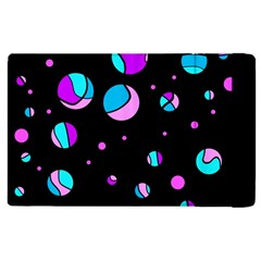 Blue And Purple Dots Apple Ipad 3/4 Flip Case by Valentinaart