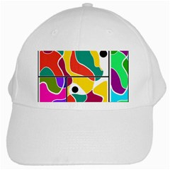 Colorful Windows  White Cap by Valentinaart