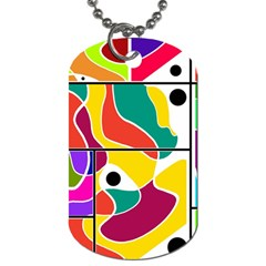 Colorful Windows  Dog Tag (two Sides) by Valentinaart