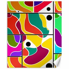 Colorful Windows  Canvas 16  X 20   by Valentinaart