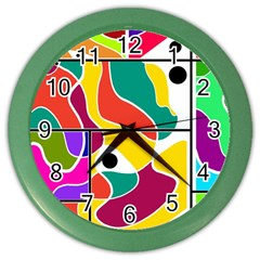 Colorful Windows  Color Wall Clocks by Valentinaart