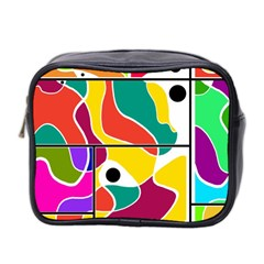 Colorful Windows  Mini Toiletries Bag 2 Side by Valentinaart