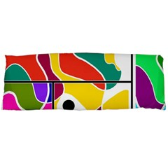 Colorful Windows  Body Pillow Case (dakimakura) by Valentinaart