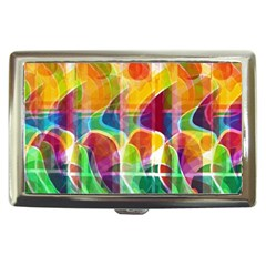 Abstract Sunrise Cigarette Money Cases by Valentinaart