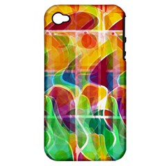 Abstract Sunrise Apple Iphone 4/4s Hardshell Case (pc+silicone) by Valentinaart