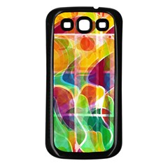 Abstract Sunrise Samsung Galaxy S3 Back Case (black) by Valentinaart