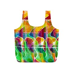Abstract Sunrise Full Print Recycle Bags (s)  by Valentinaart