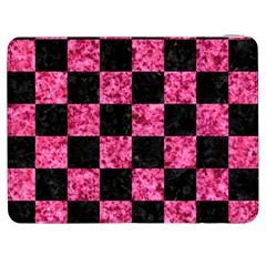 Square1 Black Marble & Pink Marble Samsung Galaxy Tab 7  P1000 Flip Case by trendistuff