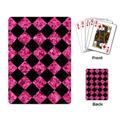 Square2 Black Marble & Pink Marble Playing Cards Single Design by trendistuff