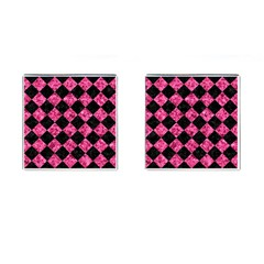 Square2 Black Marble & Pink Marble Cufflinks (square) by trendistuff