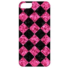 Square2 Black Marble & Pink Marble Apple Iphone 5 Classic Hardshell Case