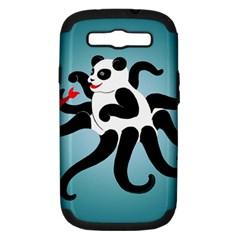 Panda Octopus Fish Blue Samsung Galaxy S Iii Hardshell Case (pc+silicone)
