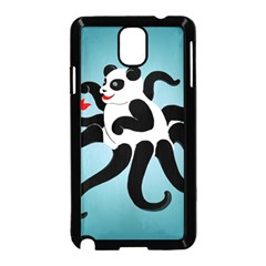 Panda Octopus Fish Blue Samsung Galaxy Note 3 Neo Hardshell Case (black) by AnjaniArt