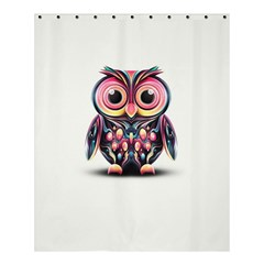Owl Colorful Shower Curtain 60  X 72  (medium)  by AnjaniArt