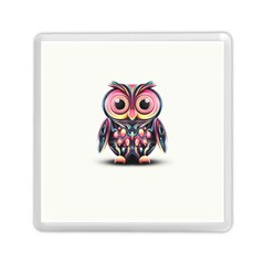 Owl Colorful Memory Card Reader (square)  by AnjaniArt