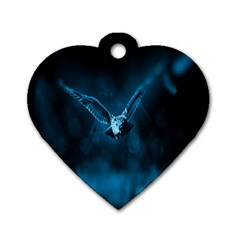 Night Owl Wide Dog Tag Heart (one Side)