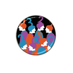 People Hat Clip Ball Marker (4 Pack) by AnjaniArt